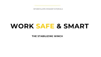 Spider Safe & Smart tutorial: Stabilizing winch